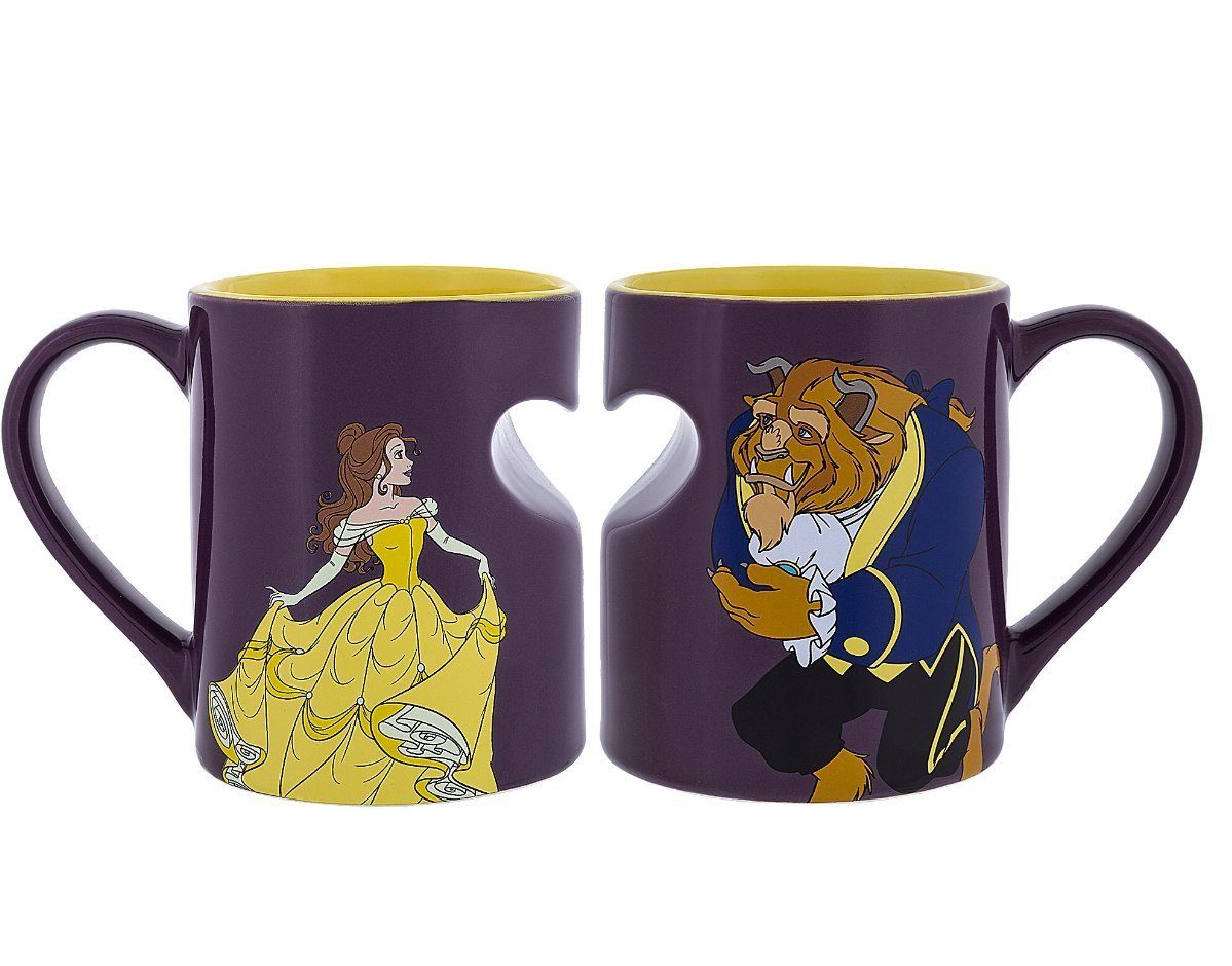 Princess Belle and Beast Romantic Mug Set