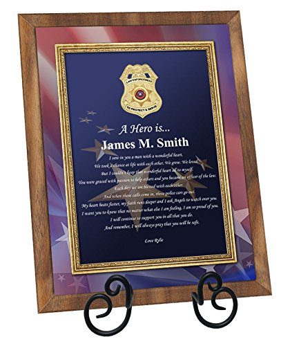 Retirement Law Enforcement Poem Plaque