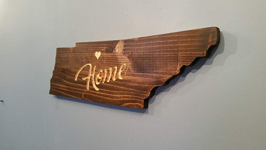 Country music gift: Tennessee State Wooden Wall Art