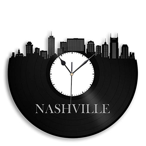 Country music gift: Vinyl Record Clock