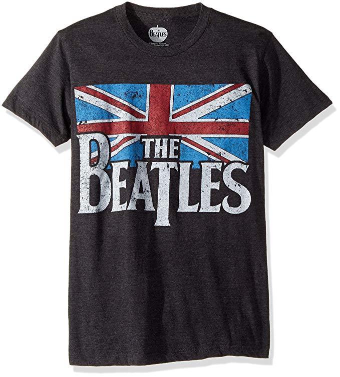 #1 Beatles gift Men's Beatles Distressed British Flag T-shirt