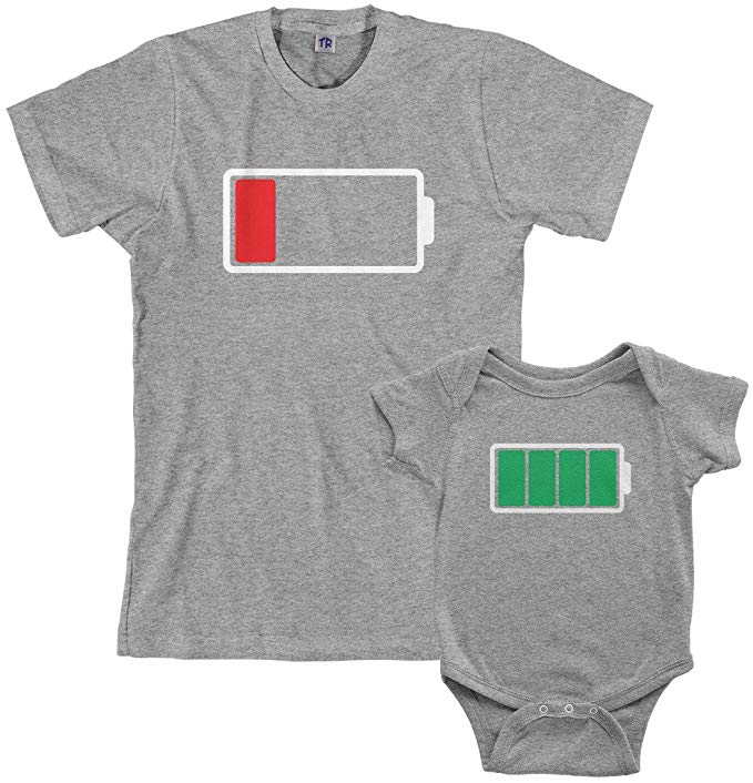 Gift for new dads: Baby & dad matching set, bodysuit and t-shirt
