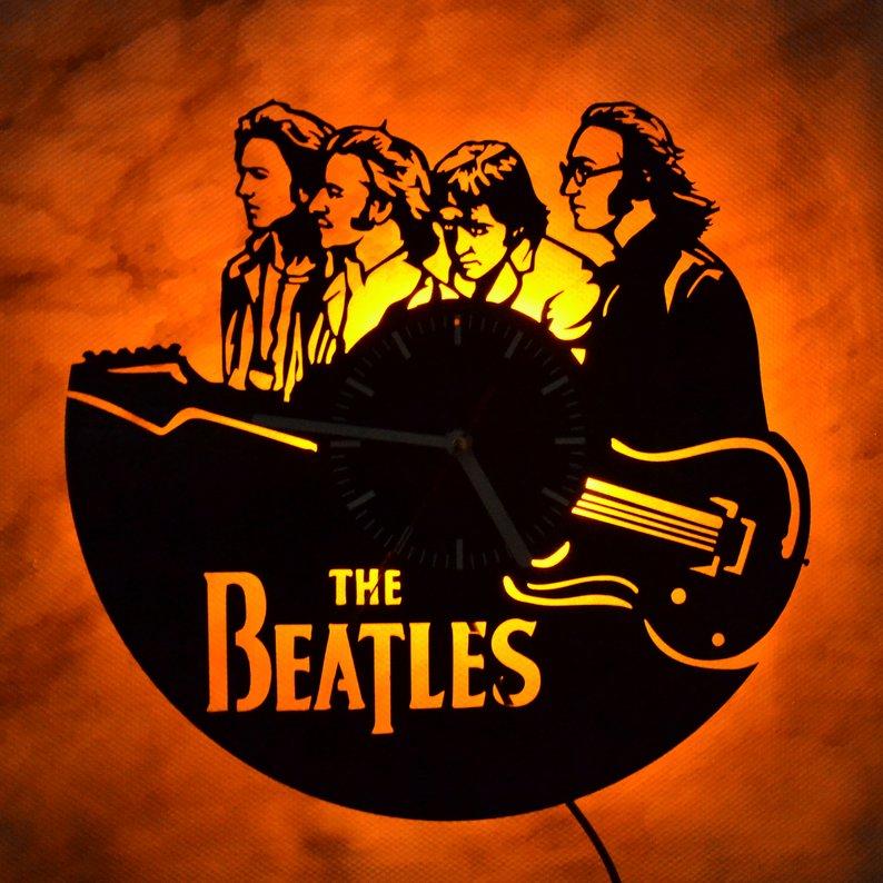 #10 Beatles gift Vinyl LED Light Clock