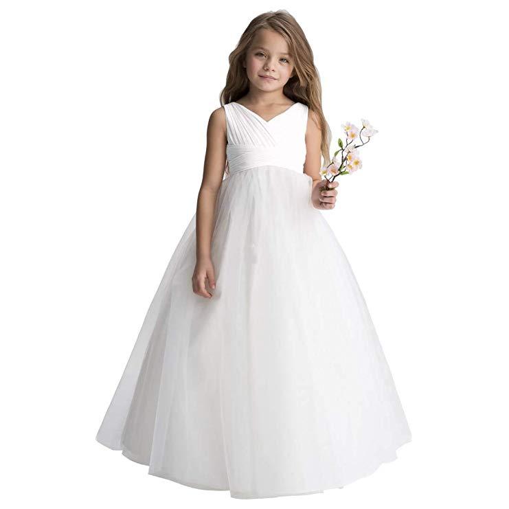 10. Junior Bridesmaid Gift Idea: Chiffon tulle flower girl dress