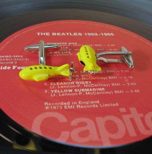 #11 Beatles gift Yellow Submarine Cufflinks