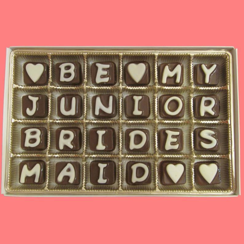11. Junior Bridesmaid Gift Idea: Chocolate Candies