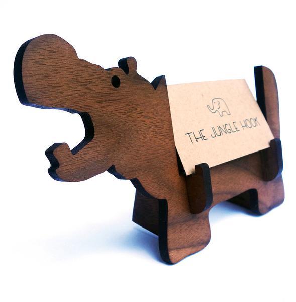 Handmade hippo office gift