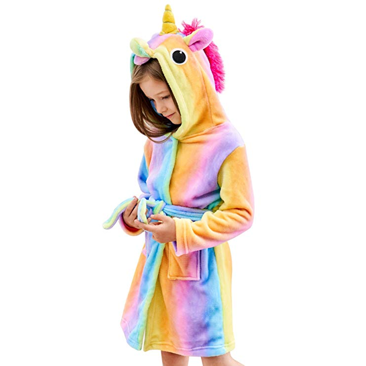 13. Junior Bridesmaid Gift Idea: Unicorn Bathrobe
