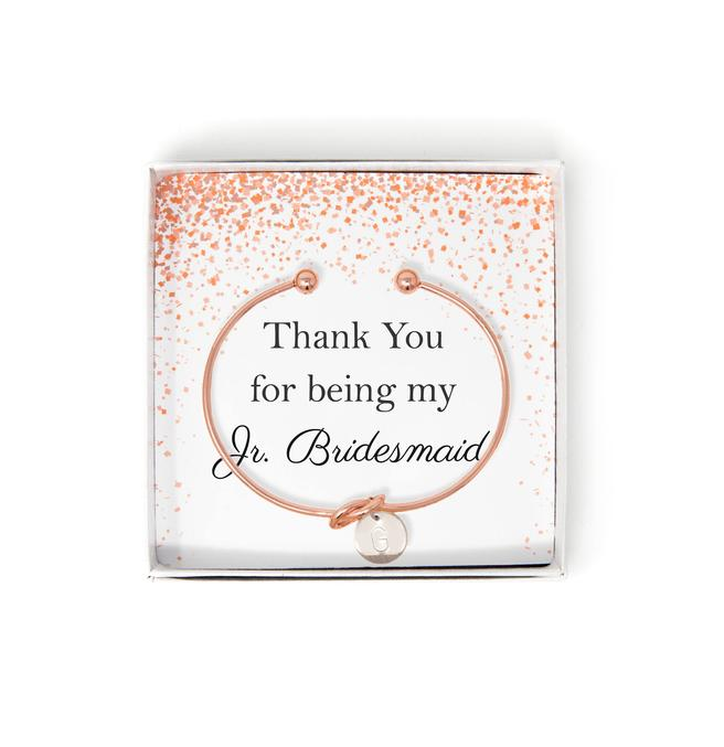 2. Junior Bridesmaid Gift Idea: Tie The Knot Bracelet