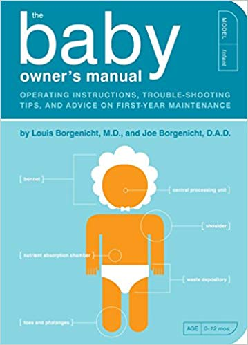 The Baby Owner's Manual funny unique gift for first time dads
