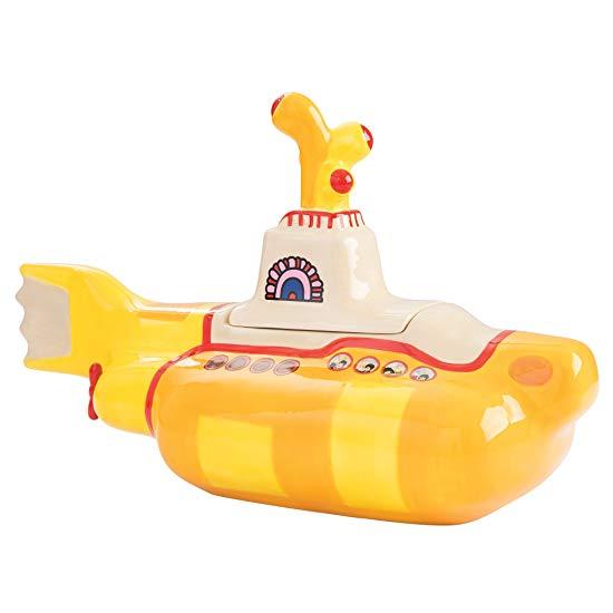 #3 Beatles gift Yellow Submarine Ceramic Cookie Jar