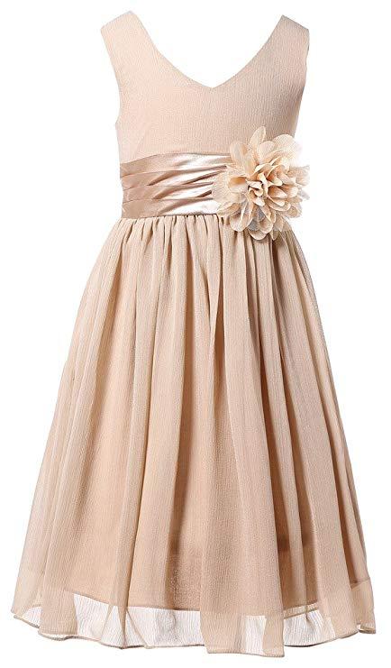3. Junior Bridesmaid Gift Idea: V-Neck Chiffon Dress