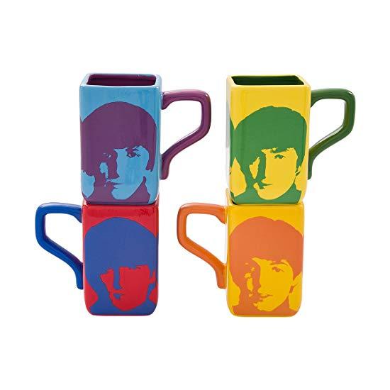 #4 Beatles gift Multicolored Square Mug Set