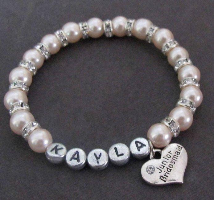 6. Junior Bridesmaid Gift Idea: Personalized Bracelet