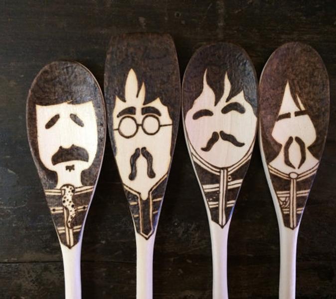 #8 Beatles gift Sgt. Pepper Wooden Spoon Set