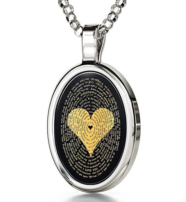 Anniversary gifts for girlfriend A Necklace That Tells Her You Love Her, Literally