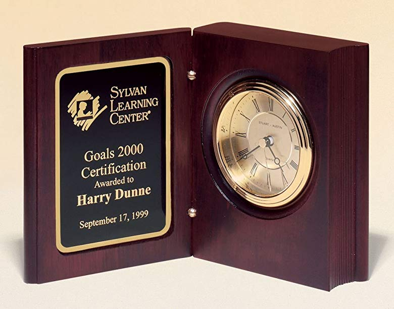 Cool customized gift for school principals Book Clock
