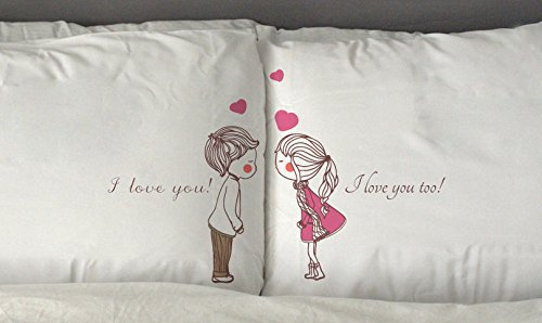 Anniversary gifts for girlfriend Coordinating pillow cases