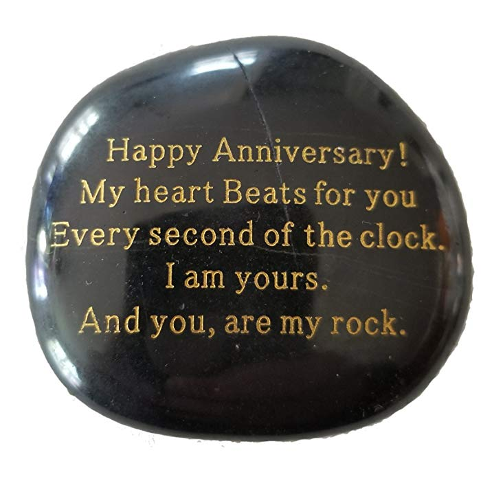 Anniversary gifts for girlfriend Engraved stone