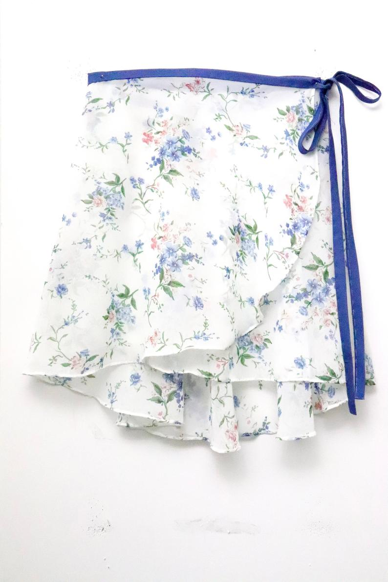 Most unique gift for ballerinas Floral Wrap Skirt