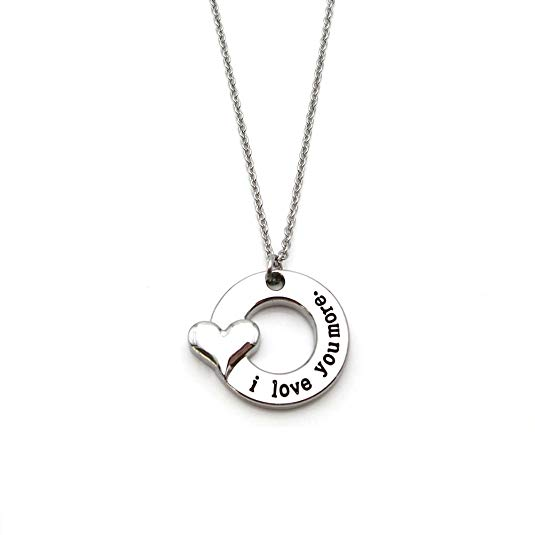Gift idea for her - Love You More Stainless Steel Necklace
