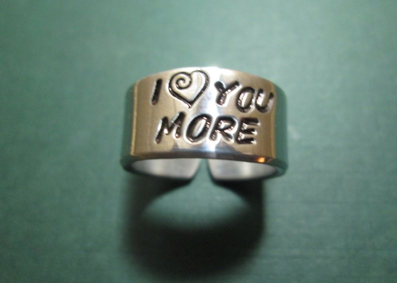 Gifts to show you love to him Handmade ring