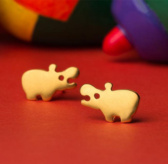 Hippo Earrings gift for girls and women