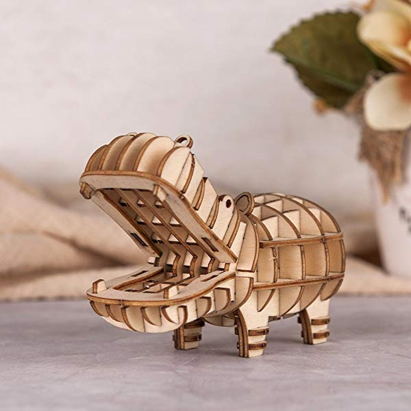 Hippo gifts for kids 3D Puzzle