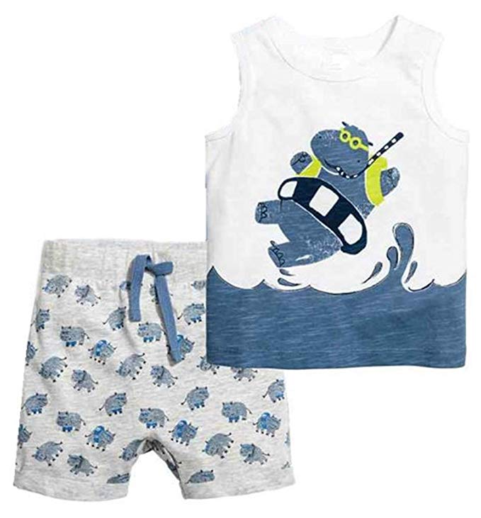 Hippo themed shirt and pants