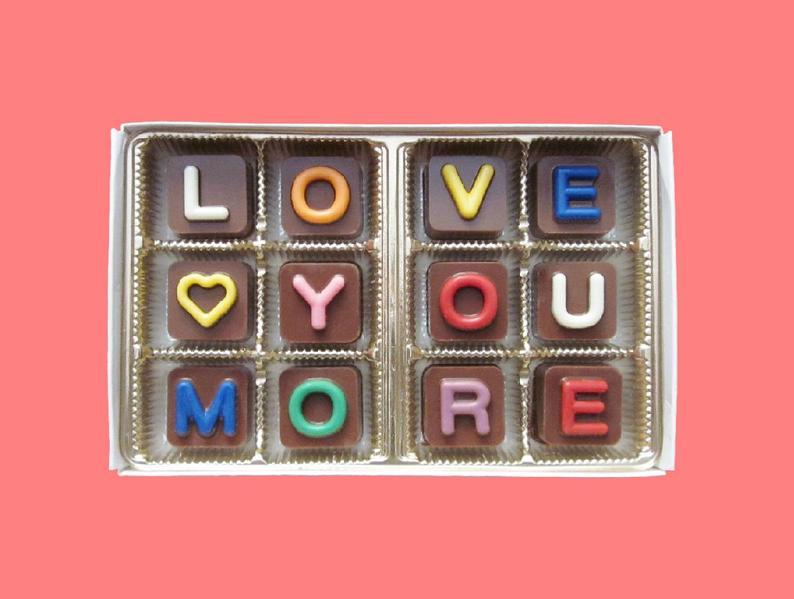 I Love You More Chocolate Gift
