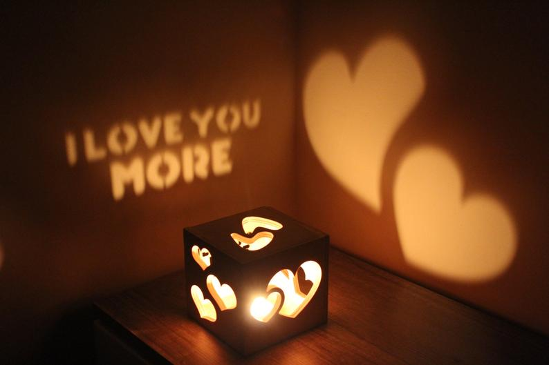 Love you more Romantic gift for her or him