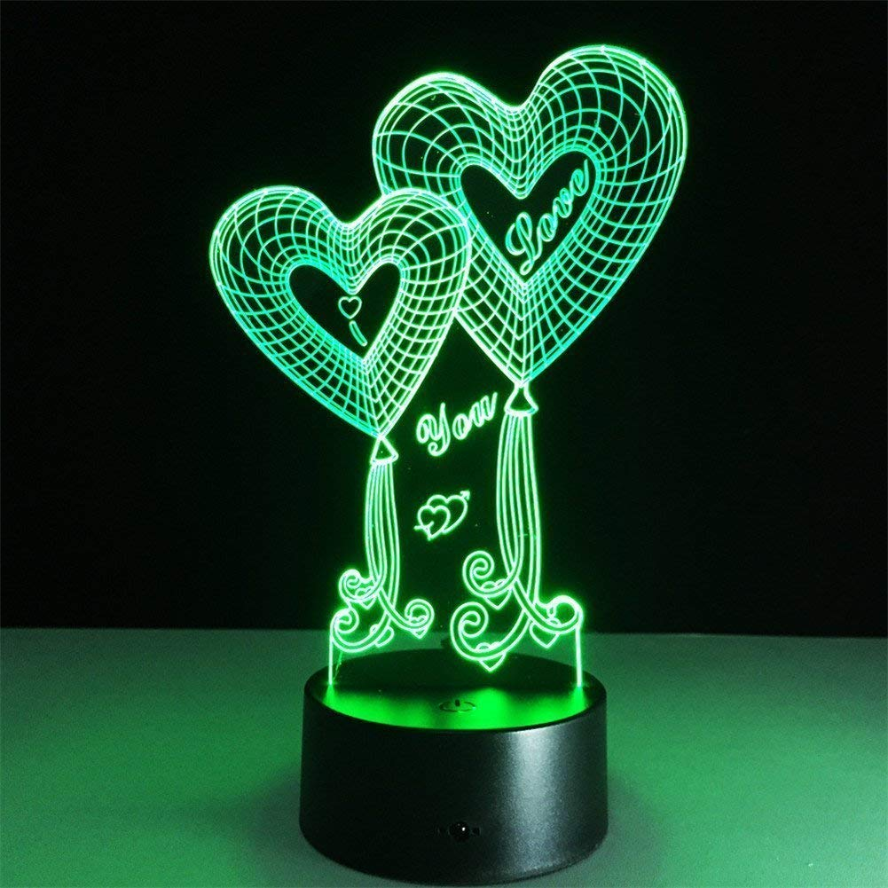 Anniversary gifts for girlfriend Optical illusion heart lamp