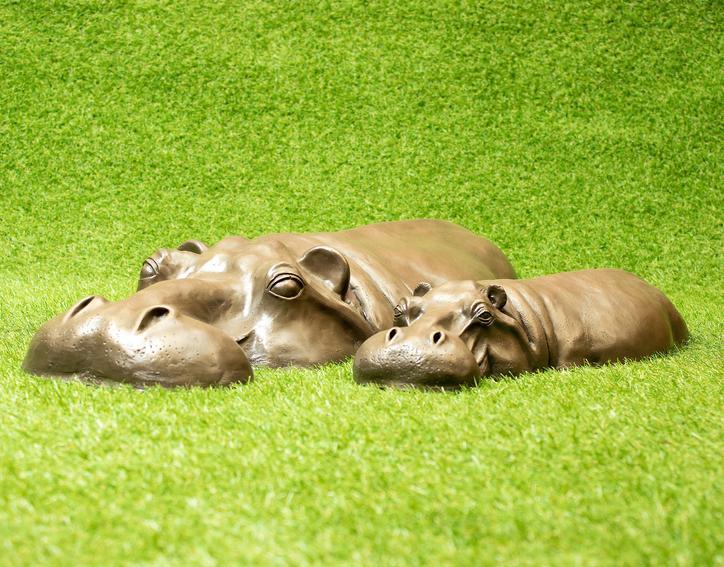 Hippo gift idea: Outdoor Garden Hippopotamus Art