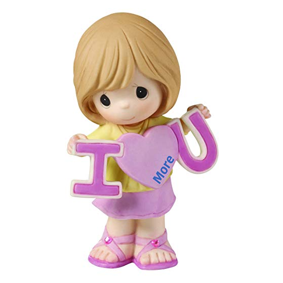 Precious Moments, Love You More Bisque Porcelain Figurine, Girl