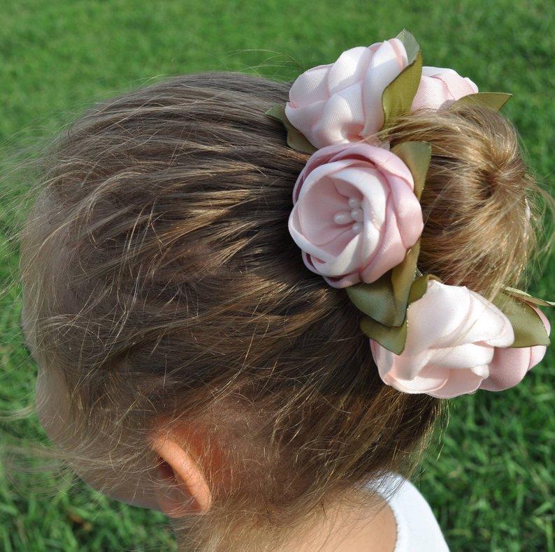 Satin Flower Bun Wreath cool ballerina gift idea