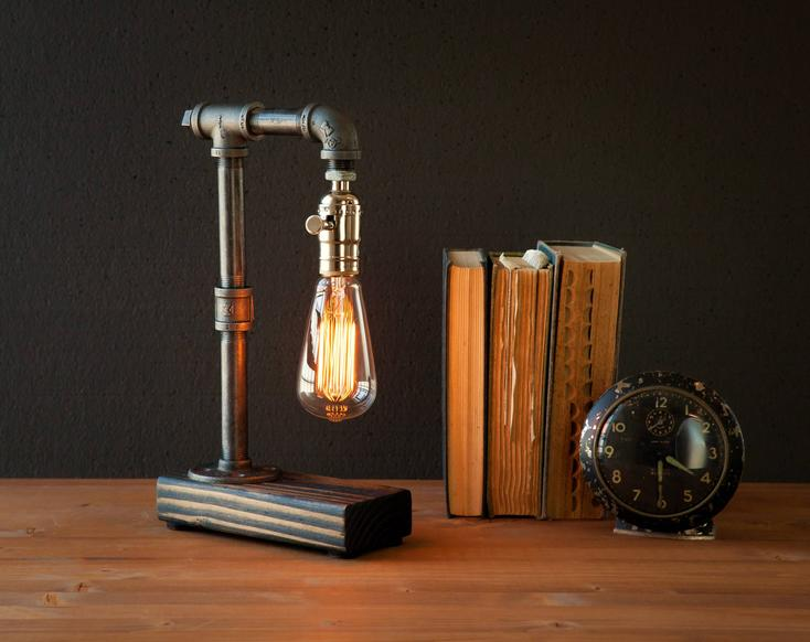 Gift for male principals Steampunk light