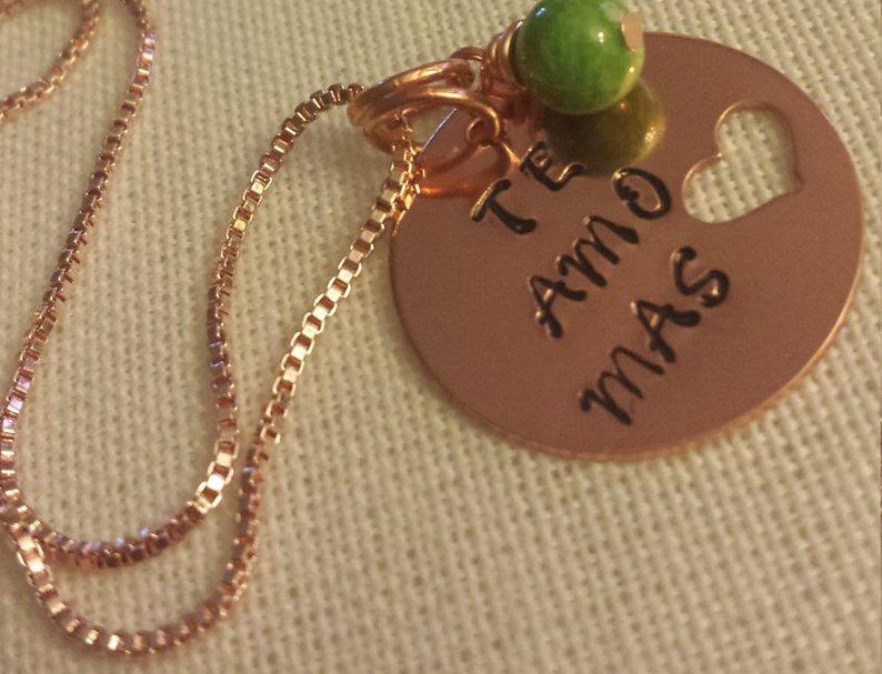 Te Amo Mas Necklace