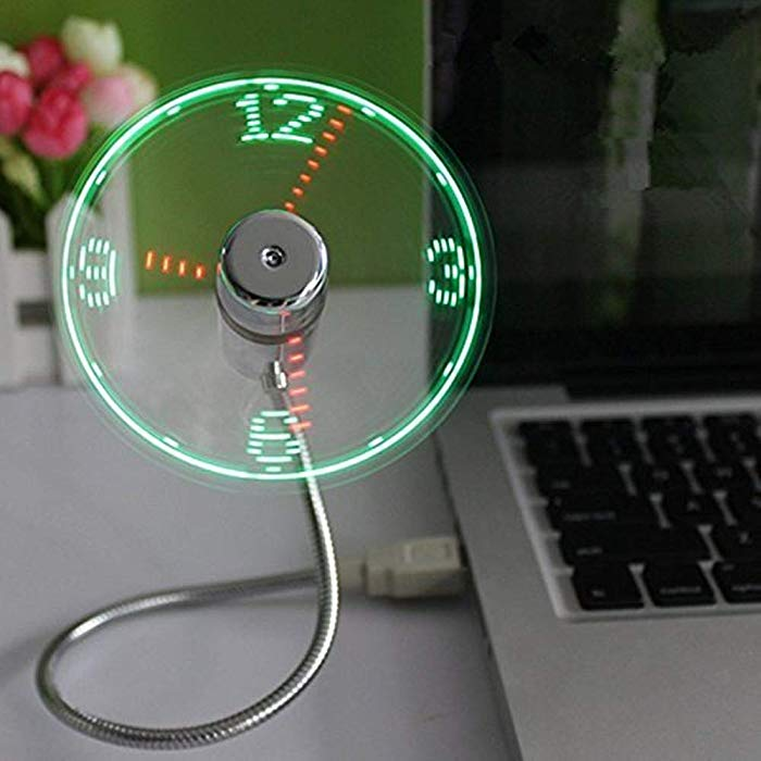 Gift for great techy school principals USB LED Clock Fan