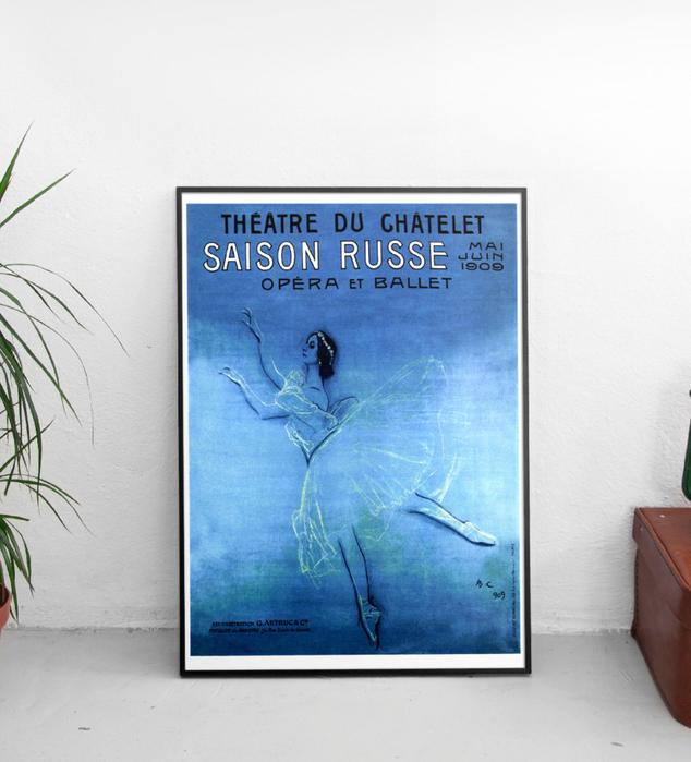Vintage Ballet Print gift idea for ballerinas to decorate room