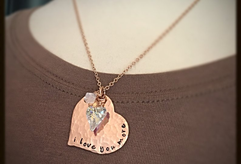 iloveyou gifts rose gold necklace