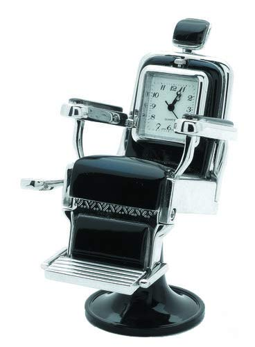 One of the coolest gift ideas for barbers - desk clock in shape of barber chair