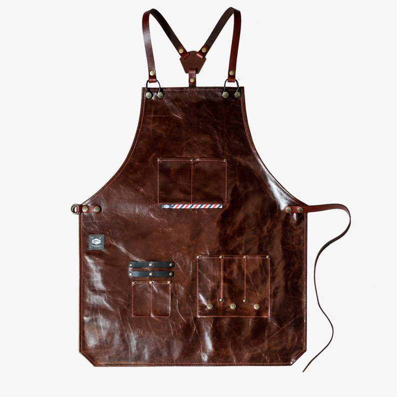 Awesome gift idea high quality leather barber apron