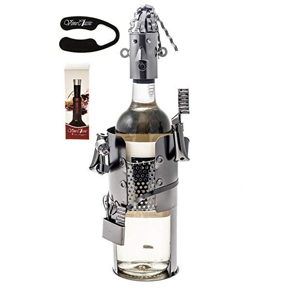 Barber themed wine battle holder