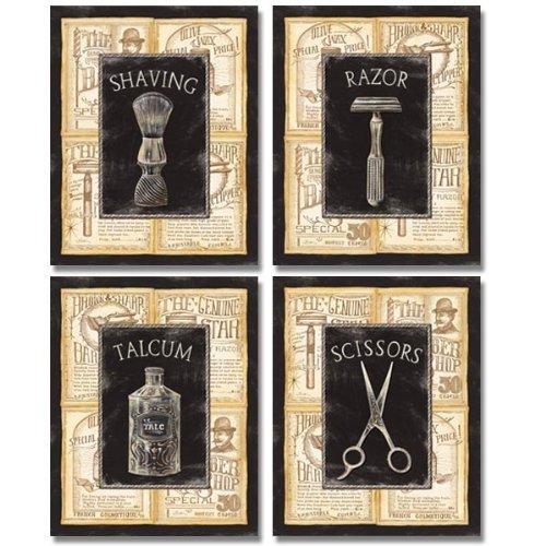 Barbershop decor - 4 great Vintage Barber Shop Art Prints