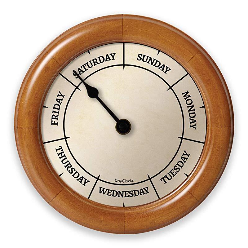 Gift Days of week Wall Clock fun nurse retirement gift idea