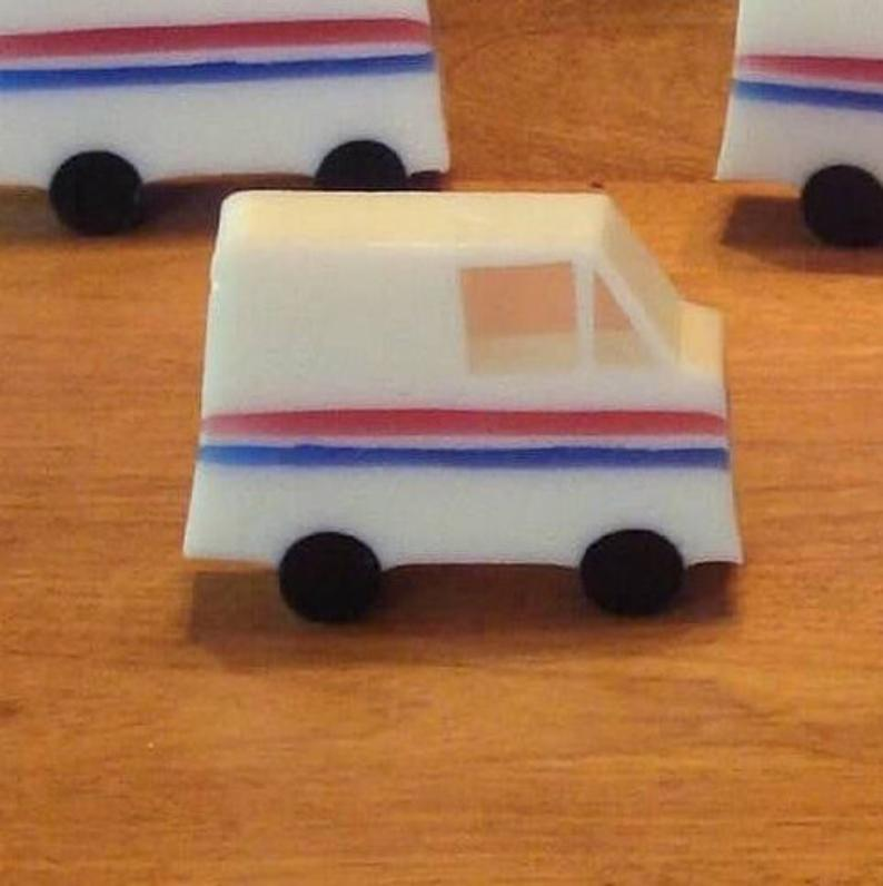 Mail Truck Soap awesome letter carrier gift