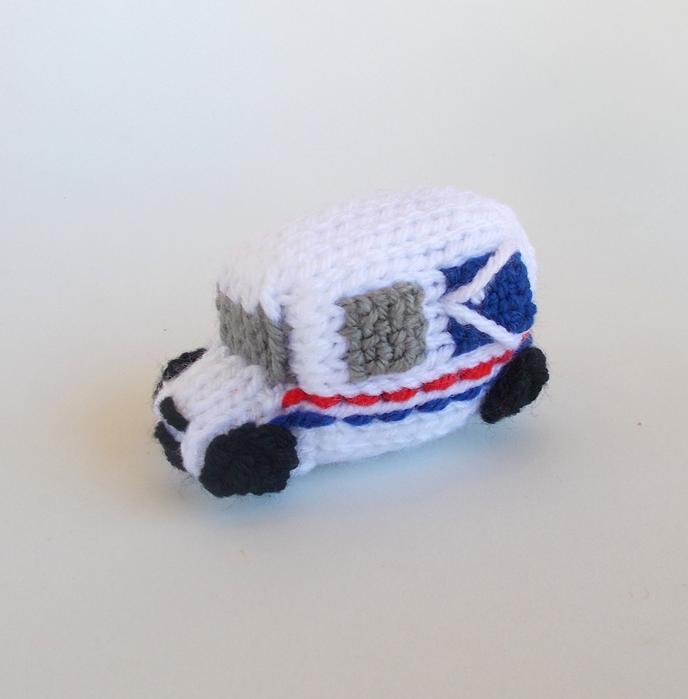 Mailman Gifts 7. Mail Truck Knitted Ornament