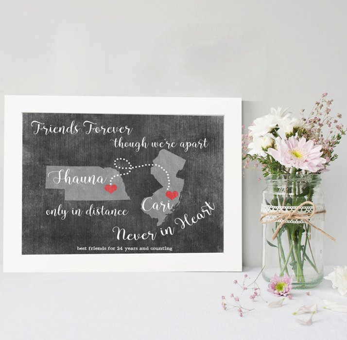 Long Distance Personalized Print