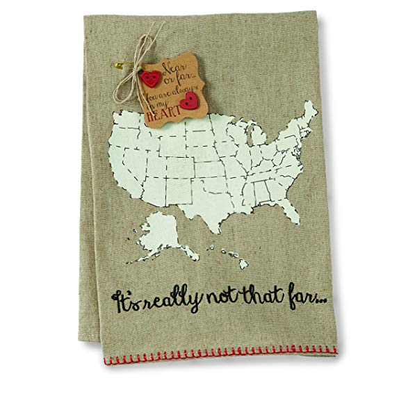Moving out of state gift idea 14. Near or Far Hand Towel