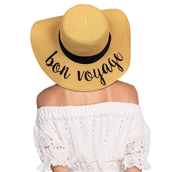 Moving out of state gift idea 6. Bon Voyage Sun Hat